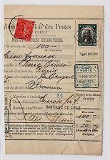 "CHILE 1927 Money Order scarce item ""Avis de Paiement"" Errazuriz"