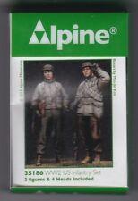 ALPINE MINIATURES 35186 - WW2 US INFANTRY SET - 1/35 RESIN KIT