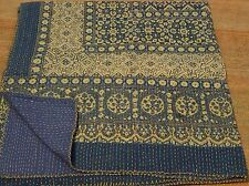KING Beautiful  Kantha King Size Quilts Throw Blanket Reversible Quilt 002