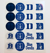 "SET of 40- 2"" DUKE BLUE DEVILS ADHESIVE STICKERS.Make Cupcake Toppers!"