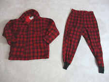 VINTAGE Woolrich Lumberjack Jacket Adult Large Coat Pants Red Black Plaid Mens