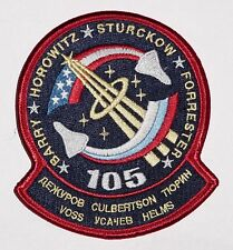 Ricamate patch spaziale NASA sts-105 dello Space Shuttle Discovery... a3110