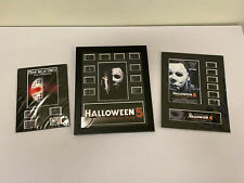 Lot 3 Carded Film Cels Cells Friday The 13th V Halloween 4 & 5