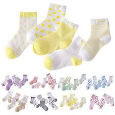 5 Paires Bébé Enfant Garcon Fille Mince Chaussons Chaussette Coton Souple Cadeau