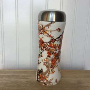 Teavana Orange  Blossom 8 Oz. Tumbler Porcelain/ Stainless Steel With Strainer