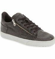 Blackstone Women KL51 Lace-up style side-zip closure Sneaker, Size 11, Black