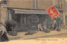CPA 92 CHATILLON RUE DU PONCEAU (cpa toilée émaillée) TABAC VINS BIERE LIQUEURS