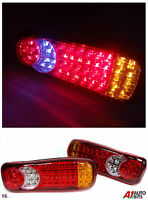 2x 46 Led Rear Tail Truck Lights For Daf Iveco Scania Volvo Man Renault 24v