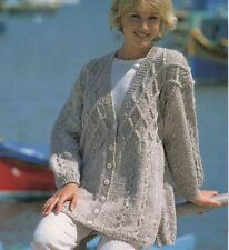 Knitting Pattern LADY'S Splendido Cardigan Aran cavo M/L (51)