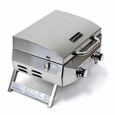Superspace 20,000 Btu 2 Burner Stainless Steel Bbq Tabletop Propane Gas Grills