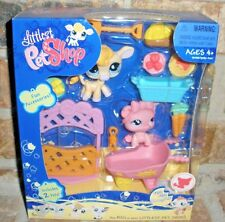 Littlest Pet Shop HOT pink PIG 926 Lavender COW 927 Themed GIFT SET  2008 VHTF