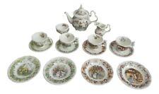 Royal Doulton Jill Barklem. Brambly Hedge Miniature Four Seasons Full Tea Set