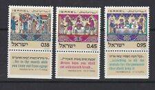 Israel Postage Stamps 1972  Passover Feast Set  Clean MNH with Tabs (3v)