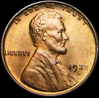 1925-D Lincoln Cent Wheat Penny  ---- GEM++ Condition Original  ----  #W824