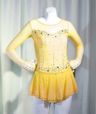 Competition Skating Dress Yellow BSU2882.31 size Youth 6-8