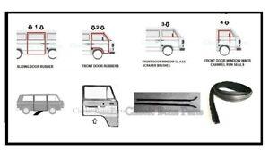 Volkswagen Transporter T3 Rubber Weathership Seal Kit Doors Windows 9 Pieces
