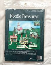 Needle Treasures Kit Neighborhood Counted Cross Stitch Le Village Plastic Canvas