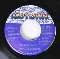 Soul Nm! 45 Jermaine Jackson - I'M Just Too Shy / All Because Of You On Motown