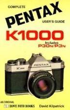 1990 PENTAX K1000-P30N-P3N 35mm SLR CAMERA USERS GUIDE MANUAL by HOVE