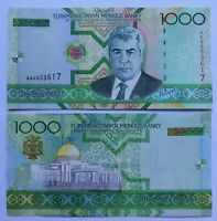 TURKMENISTAN 1000 manat 2005, serie AA, P-20. Sin circular UNC.