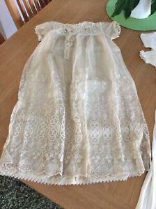 Antique Christening Gown, Nightdress x 6 Items
