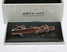 Mens Tie Bar - MOTORBIKE Racer Design * New * Gift Boxed