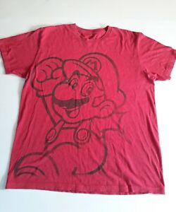Super Mario Bros Red T-Shirt Size Large