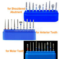 Dental Diamond Burs Kit Friction Grip FG for Crown&Bridge Preparation Anterior
