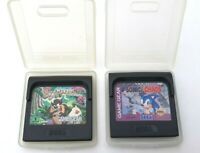 Lot of 2 Sega Game Gear 1992 Taz-Mania & Sonic Chaos In Cases Made Japan