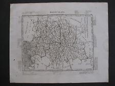 1835 Carte Atlas Géographique France Département Ille et Vilaine Bretagne Rennes