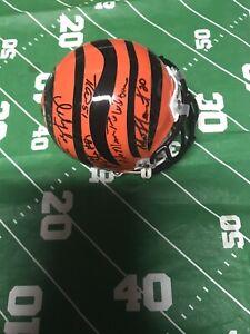 VINTAGE Cincinnati Bengals Super Bowl XXIII Signed Mini Helmet HOF 13 Signatures
