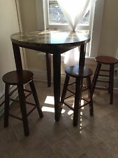 Granite High Top Table and Stools