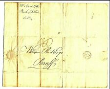 14 Apr 1796 cover entire Bank of Scotland, Edinburgh to Banff, Bishops mark