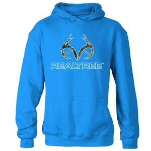 Realtree Camo Antlers Youth XL Brilliant Blue Hoodie Camo New Sweatshirt RTI8004