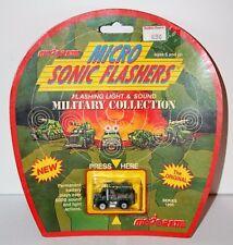 Vintage 1989 Majorette Micro Sonic Flashers Military #1317 Machine Gun MOC New
