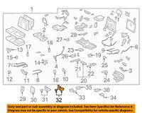 TOYOTA Genuine 71692-60100-B0 Seat Cushion Hinge Cover