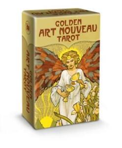 Golden Art Nouveau Tarot Mini Cards by Giulia Massaglia 9788865277171