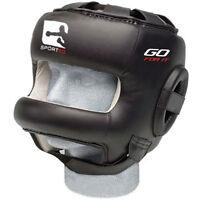 Sporteq Bar Leather Head Guard Helmet Boxing Martial Art MMA Kick Gear Protector