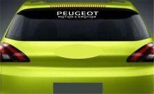 Rear Window Sticker Fits Peugeot Motion & Emotion Premium Qaulity Decals RL72