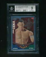 2010 Topps WWE Slam Attax Mayhem Mattel John Cena BGS 9