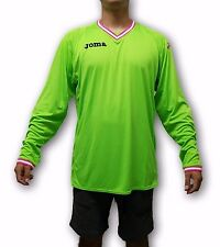 Joma Men's Green Goalkeeper Soccer Jersey Long Sleeve with Padded Elbows Size XL