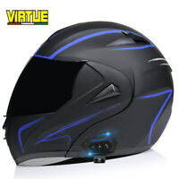 DOT Modular Motorcycle Bluetooth Helmet Flip Up Full Face Dual Visor Moto Helmet