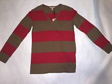 Burberry BRIT Men's V-Neck Long Sleeve Shirt (Small)