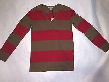 Burberry BRIT Men's V-Neck Long Sleeve Shirt (Small)