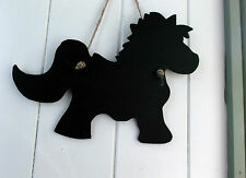 CUTE PONY HORSE SHAPE chalkboard blackboard tack stable gift birthday christmas