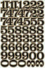 PLANCHE A4 TUNING QUAD 51 AUTOCOLLANT STICKER CHIFFRE NOIR ET MARRON 3 X 2,5CMS