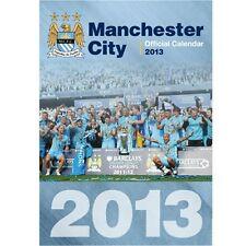 Manchester City FC 2013 Calender English Premier League new EPL Sky Blues MAN