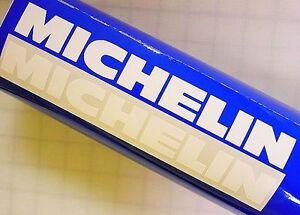 "MICHELIN WHITE 8.25"" 21cm stickers f4i tires pilot sport decals r 1 3 6 m gsx r"