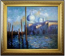 Framed Oil Painting, Claude Monet The Grand Canal Venice Repro. 20x24in