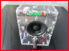 Transparent LM386 audio amplifier kit With the shell computer brain box DIY